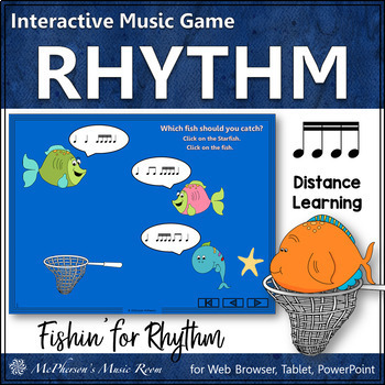 Fishin' for Rhythm (Sixteenth Notes) Interactive Music Game