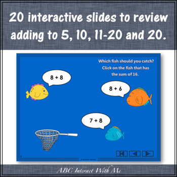 Fishin' for Sums 1 to 20 Bundle (Interactive Addition Games)