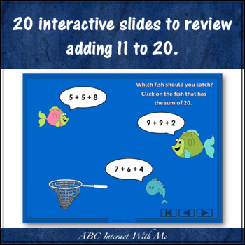 Fishin' for Sums 11 to 20 (Interactive Addition Game)