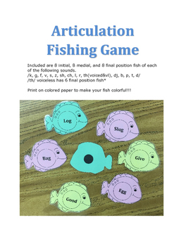 Articulation Fishing Game