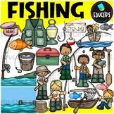 Fishing Clip Art Bundle {Educlips Clipart}