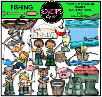 Fishing Clip Art Bundle