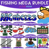 Fishing Clip Art - Fishing Mega Growing BUNDLE {jen hart C