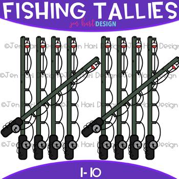 Fishing Clip Art -Fishing Pole Tally Marks {jen hart Clip Art}