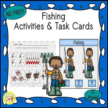 Fishing Count and Clip Task Cards