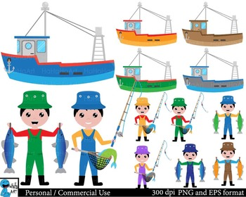 Fishing Digital Clip Art Personal Commercial Use 117 images cod181
