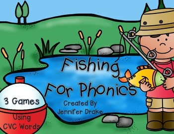 Fishing For CVC Words!  3 Phonics Games/Centers Using CVC Words and Spinners!