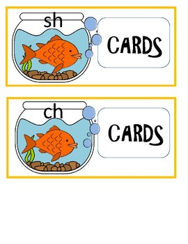 Fishing For Digraphs - A File Folder Activity For Digraphs in Closed Syllables