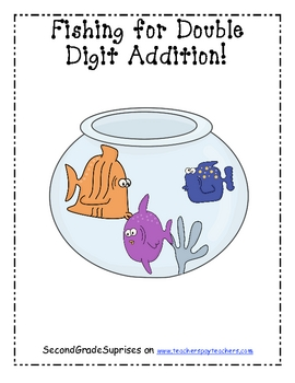 Fishing For Double Digit Addition!