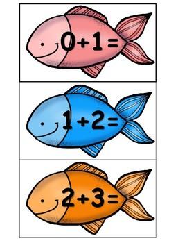 Fishing Fun Doubles +1 Math Center