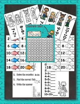 Fishing Fun Doubles Math Center