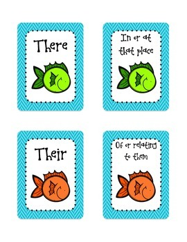 Fishing For Homophones: A Game of Homophone Go Fish