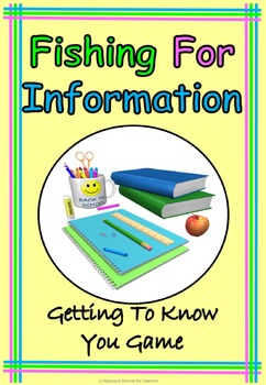 Fishing For Information Back to School or End of Year Fun,