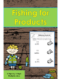Fishing For Products: 2 Digit by 2 Digit Multiplication