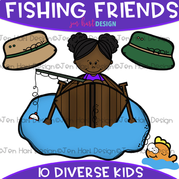 Fishing Friends Clip Art: Fishing Clipart {jen hart Clip Art}
