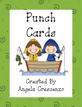 Fishing Friends Themed Punch Cards