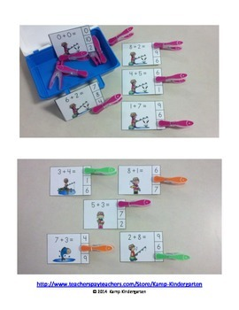 Fishing Fun Addition Math Centers (Sums of 0 to 10)