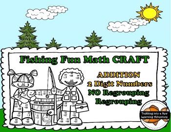 Fishing Fun Addition Regrouping-No Regrouping Math CRAFT
