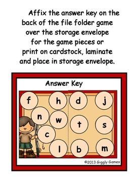 Fishing Fun Beginning Sounds File Folder Game