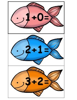 Fishing Fun Doubles -1 Math Center