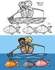 Fishing Fun Math Fluency Addition CRAFT