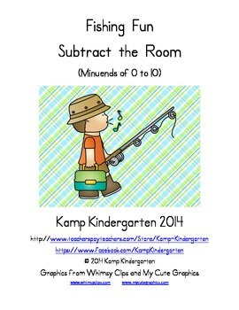 Fishing Fun Subtract the Room (Minuends to 10)