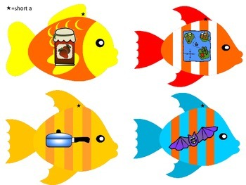 Fishing Game for Short Vowels-Coded for Each Vowel