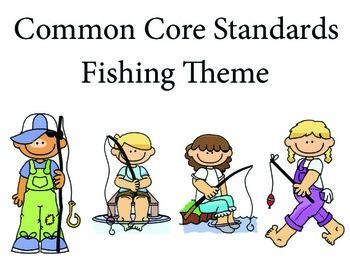 Fishing Kindergarten English Common core standards posters