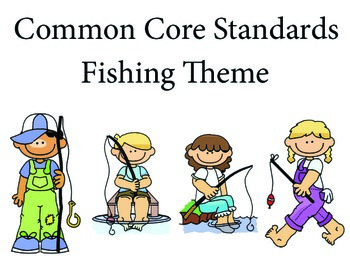 Fishing Kindergarten English Common core standards posters