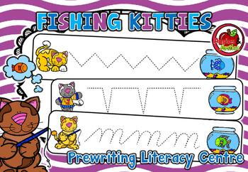 Fishing Kitties - Pre-writing Literacy Centre