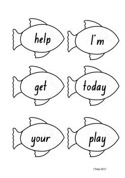 Fishing Sight Word Game – Aqua Level PM Sight Words