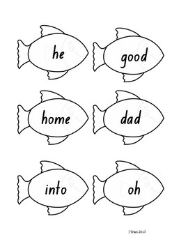Fishing Sight Word Game – Green Level PM Sight Words