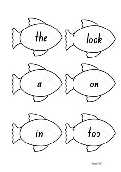 Fishing Sight Word Game – Pink Level PM Sight Words