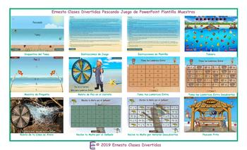 Fishing Spanish PowerPoint Game Template FREE READ ONLY SHOW