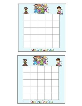 Fishing Theme Incentive Sticker Chart