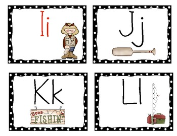Fishing Theme Word Wall Headers With Black Dots