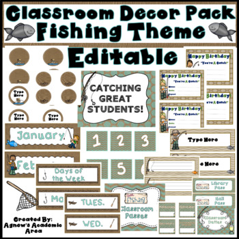 Fishing Theme Classroom Decor Pack