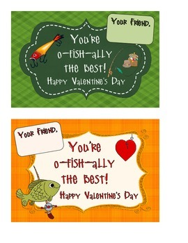 Fishing Themed Valentine's Day Cards