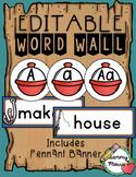 Fishing Themed Word Wall - Editable