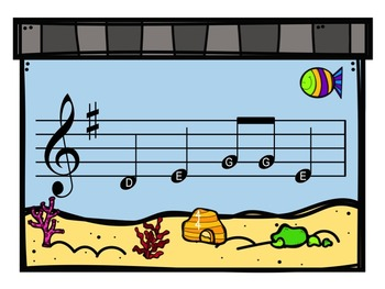 Fishing for A Melody - A Game for Recorder to Practice G, A, B, E and D