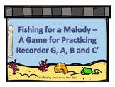 Fishing for A Melody - A Game for Recorder to Practice G, A, B and C'