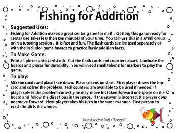Fishing for Addition Facts up to 18