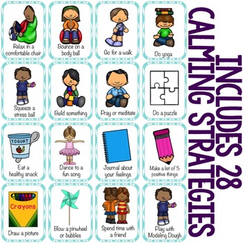 Calming Strategies/Coping Skills Card Game - Elementary School Counseling