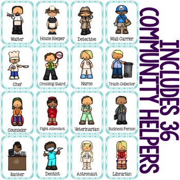 Community Helpers Card Game - Elementary School Counseling