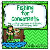 Initial Consonant Fishing for Grades K-2