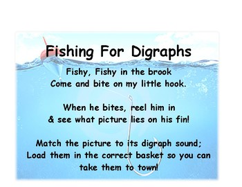 Fishing for Digraphs Game and Lesson Plan