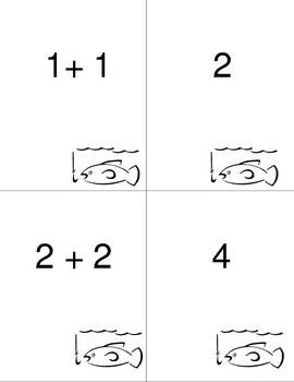 Fishing for Doubles Facts Addition Game