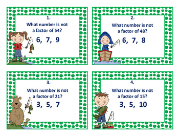 Multiplication Factors Task Cards