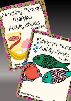 Fishing for Factors and Munching Through Multiples Activity Sheets Grade 3-5