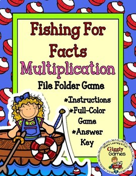 Fishing for Facts Multiplication File Folder Game